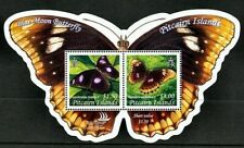 Pitcairn 2005 Blue Moon Butterfly on Cut-to-Shape  Mini-Sheet Of Two Stamps MNH