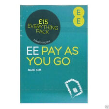 EE £15 Pack Pay As You Go Sim Card - Standard, Micro & Nano Plus Top Up Card