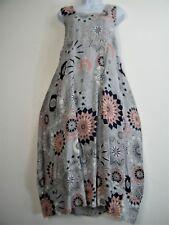 Lagenlook 100% Lino Italian Vestido de Verano 2 Bolsillos Delanteros 13 Colores