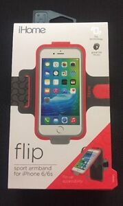 iHome Flip Sport Armband for iPhone 6/6s Red NEW (free shipping)