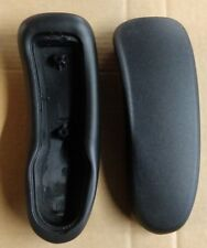 Genuine OEM Herman Miller Aeron Chair Size A B C  Arm Pads Pair Black Set NEW