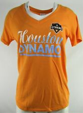 Houston Dynamo MLS adidas Women's Orange V-Neck Screen Print T-Shirt