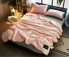 Solid Color Super Cozy Soft Thin Quilt Ice Silk Air Conditioning Blanket Summer