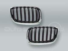 Chrome/Black Front Hood Grille PAIR fits 2005-2006 BMW X5 E53