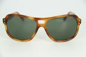 Vintage Vuarnet 003 Brown Tobacco Small Sunglasses PX3000 Gray lens