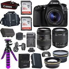 Canon EOS 80D Digital SLR Camera Body (Black) + (2) Lens Kit