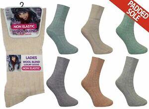 12 pairs womens wool mix non elastic top boot socks