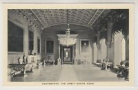 Derbyshire postcard - Chatsworth, The Great Dining Room