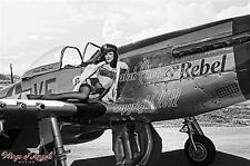 "Wings of Angels Malak Pin Up Jenn ""The Rebel"" WWII P-51D Mustang Limited 13X19"