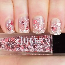 NEW! Julep polish HARTLEIGH Nail Vernis ~ Holographic heart glitter top coat