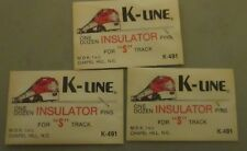 K-LINE S GAUGE 3 DOZEN INSULATOR PINS MINT IN PACKAGE NEVER USED
