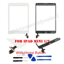 Black Touch Screen Glass Digitizer Replacement for iPad Mini 1 2 Home Button