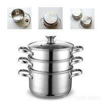 NC-00313 4QT 20CM Double Boiler and Steamer Set Stainless Steel