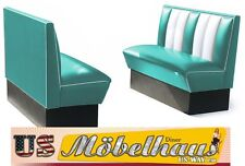 2xHW120T American Diner Bench Seating Dinerbänke Furniture 50´S USA Style