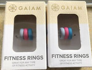 Gaiam Fitness Rings S/M Size 6-8 2packs Of 3 Silicone Rings New In Box