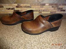 Womens Sz 40/9.5-10 Dansko Antique Brown Matte Oiled Leather Professional Shoes