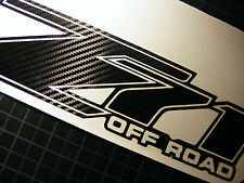 CARBON FIBER  CHEVY Z71 4x4 OFF ROAD DECAL,Truck Z71 silverado chevrolet