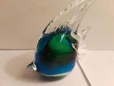 Glass Fish Multicolored Blue/Green Decoration