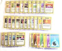 Pokemon Card Complete Base Set Trainer and Energy Rare-Common #70-102/102
