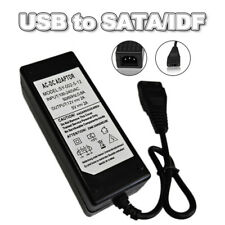 Externa 12/5V USB a IDE + SATA Power Supply Adaptador Cargador HDD Disco Duro CD
