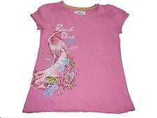 H & M tolles T-Shirt Gr. 110 / 116 rosa mit Druckmotiv !!