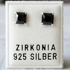 NEU 925 Silber OHRSTECKER 3mm ZIRKONIA STEINE light smoked topaz//braun OHRRINGE