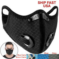 Cycling Mesh Outdoor Sports Scarf Neck Warmer Headband Face Mask with Filter USA