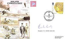 AF21c Malaya Cyprus and Suez Crisis RAF cover signed PARA CO Brig Crook DSO