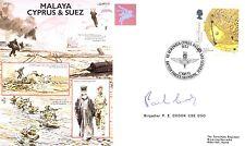 AF21c Malaya Cyprus and Suez Crisis RAF cover signed PARA CO Brig Crook DSO