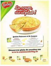 PUBLICITE ADVERTISING  2009   LIEBIG  quiche aux poireaux & st jacques