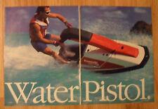 1987 Print Ad Kawasaki 650 Sx Water Pistol Personal Watercraft Jet Ski
