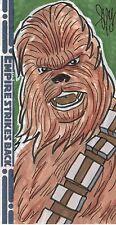 Star Wars Empire Strikes Back 3D Hand Drawn Color Sketch Card 1/1 Cal Slayton