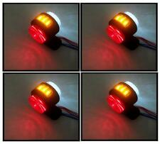 4 X 24V SIDE AMBER RED WHITE MARKER LIGHTS INDICATOR LED TRUCK TRAILER CHASSIS