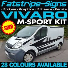 VAUXHALL VIVARO SWB GRAPHICS STICKERS DECALS STRIPES M SPORT DAY VAN CREW CAB D