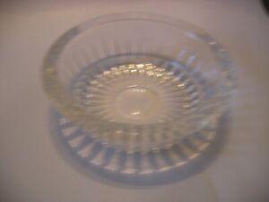 Vintage VAL ST LAMBERT Balmoral Cut Ashtry / Deep Dish Signed