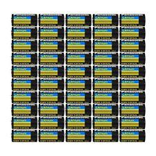 50PCS of Panasonic CR123A 3V Photo Lithium Batteries Cells 1550mah for Cameras