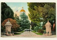 Sacramento California Postcard CA Entrance Capitol Grounds 10th N Streets 1900's