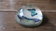 Vintage Butterfly Dome Paperweight 3""