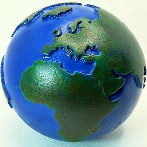 ☬🌷💐🍀🐜 Erde Globus Kontinente Planet Terra Steingut handbemalt..