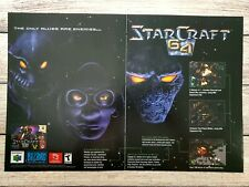 Starcraft 64 Nintendo N64 2000 2 Page Vintage Promo Ad Art Print Poster