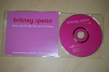 Britney Spears - Don't let me be last to know. CD-Single promo (CP1708)