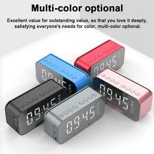 Led Mirror Digital Alarm Clock Wireless Bluetooth Speaker Poratable Mp3 Fm Radio