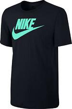 Nike Men's Active Sportswear T-Shirt  Aqua  Logo