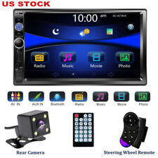 7'' 2 DIN HD Touch Screen Bluetooth Car Stereo Radio MP5 Player+Rear View Camera