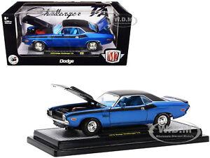 1970 DODGE CHALLENGER T/A 340 6 PACK BLUE 1/24 DIECAST MODEL CAR M2 40300-85 A