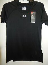 91029-28 Womens UNDER ARMOUR Short  Sleeve Shirt 1268481 001 Black $22.99 New