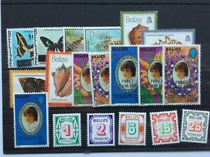 1980 BELIZE - CARD OF 19 STAMPS - ALL 1980 ISSUE - MNH