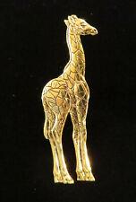 Giraffe Collectable 24 Karat Gold Plate Giraffe Brooch Zoo African Animals