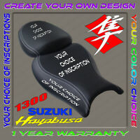 CUSTOM Seat COVER SUZUKI HAYABUSA 08-18 2gen (your design+color) (4 inscription)