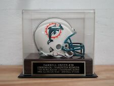 Football Mini Helmet Display Case With A Darrell Green Redskins Nameplate